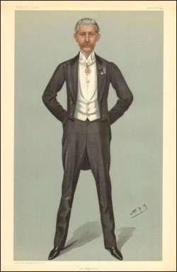 "Caricature of Sir George Holford in ""Vanity Fair"" 1899."