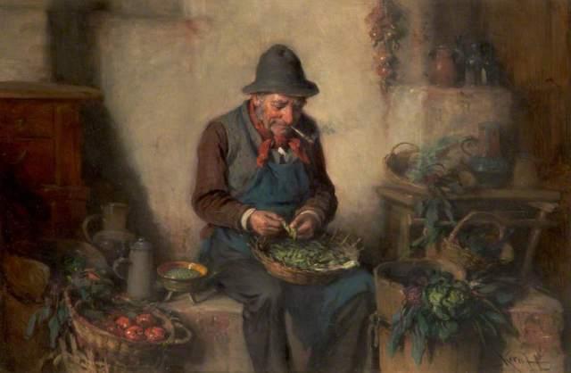 Kern, Hermann; Old Man Shelling Peas; Rochdale Arts & Heritage Service; http://www.artuk.org/artworks/old-man-shelling-peas-90159