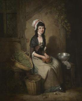 Bigg, William Redmore; A Girl Shelling Peas; Plymouth City Council: Museum and Art Gallery; http://www.artuk.org/artworks/a-girl-shelling-peas-147495