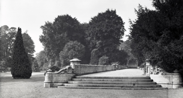 The lower terrace at Westonbirt. Pub Orig CL 25/03/1905