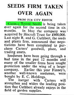 from The Times 2nd Jan 1967