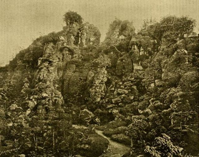 The rockery at Lamport Hall in 1897 Date1897 Source The Gardeners Chronicle, 25 September 1897, p. 217