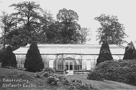 A 1910 photo by J.Batley showing the conservatory in its full splendour from http://www.gardenhistorysociety.org/post/agenda/3278/