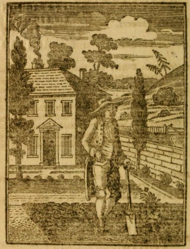 the fronispiece of the Gardeners Vade Mecum