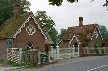 Pair Of Lodges 100 Metres West Of Houghton Lodge http://www.heritagegateway.org.uk