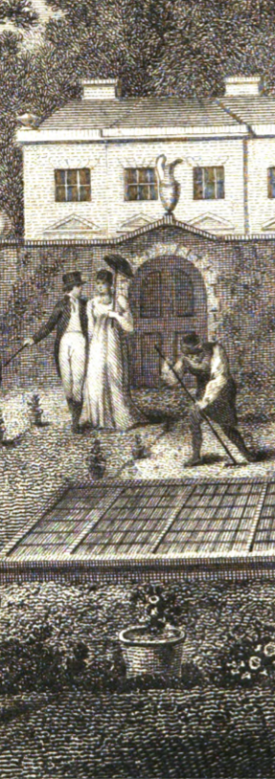 detail from the frontispiece of Every Man His Own Gardener, 1800 edition