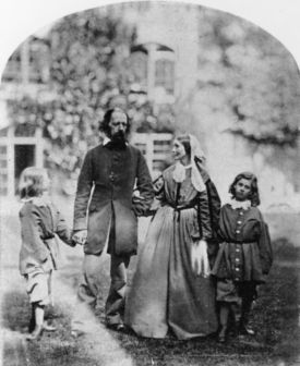 Alfred and Emily Tennyson with their sons at Farringford, Julia Margaret Cameron, Reading Museum