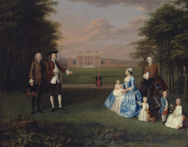 Robert Gwilym of Atherton and his family, c.1745 http://collections.britishart.yale.edu/vufind/Record/1668347