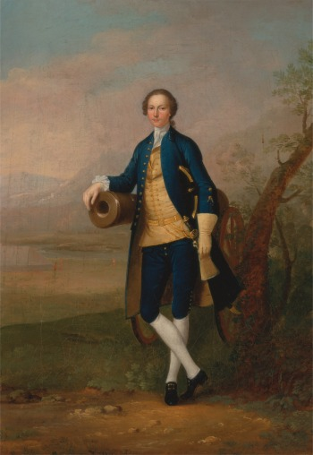 Arthur Devis, 1712–1787, British, Gentleman with a Cannon, 1741, Oil on canvas, Yale Center for British Art, http://collections.britishart.yale.edu/vufind/Record/1669197