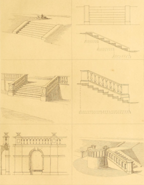 Desihns for parterres from The Art and Practice of Landscape Gardening , 1890