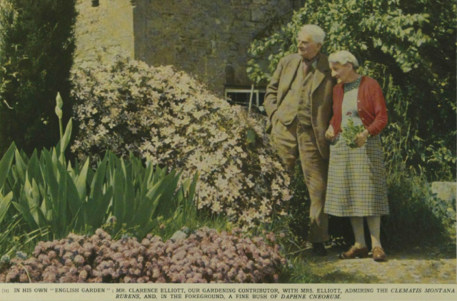 Gardening and Literature: Mr. Clarence Elliott and Sir John Squire at Home. Illustrated London News (London, England),Saturday, January 11, 1958