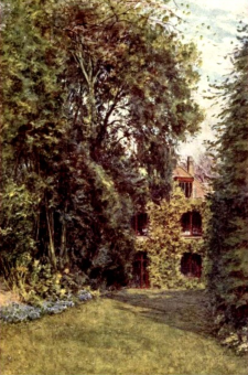 Glimpse of Farringford from the Upper Lawn by Helen Allingham from http://freeread.com.au/@rglibrary/GKChesterton/Biography/Tennyson.html