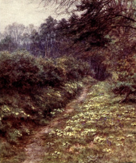The Primrose Path of Dalliance at Farringford, by Helen Allingham from xxxx