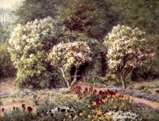 Arbor in Farringford Kitchen Garden by Helen Allingham fromxxxx