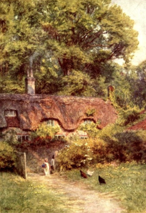 The Dairy and Home Farm at Farrington by Helen Allingham