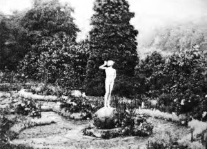 The Rude Boy sculpture in the garden at Steephill, c.1913 Photo courtesy of Dudley Graeme