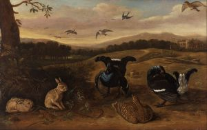 Black Game, Rabbits, and Swallows in a Park Yale Center for British Art