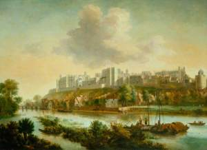 Knyff, Jacob; View of Windsor Castle with Sailing Barges; Government Art Collection; http://www.artuk.org/artworks/view-of-windsor-castle-with-sailing-barges-28618