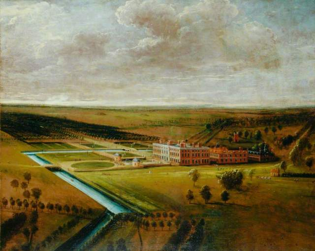 Knyff, Leonard; Thoresby Hall, Nottinghamshire; Government Art Collection; http://www.artuk.org/artworks/thoresby-hall-nottinghamshire-28619