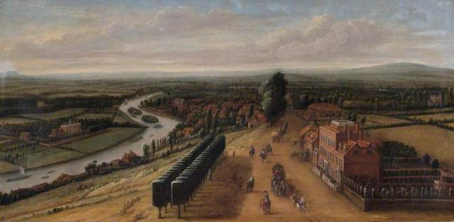 Knyff, Leonard; The Terrace and View from Richmond Hill, Surrey; Richmond upon Thames Borough Art Collection ; http://www.artuk.org/artworks/the-terrace-and-view-from-richmond-hill-surrey-87353