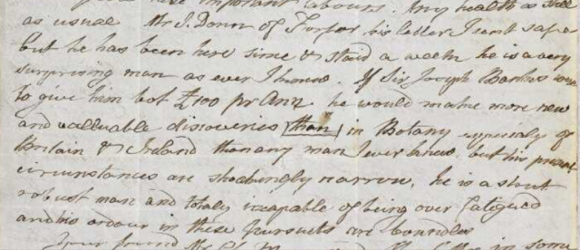Extract from a letter from xxxx to Smith